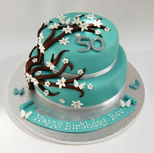 2 tier flower cake - Google Search