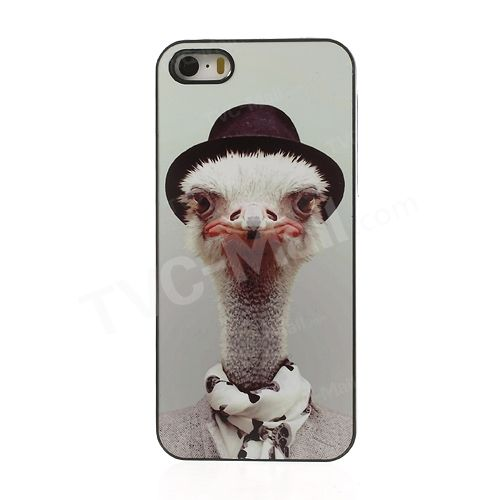 Zoo Animal Portrait Ostrich Plastic Case Shell for #iPhone5s/5