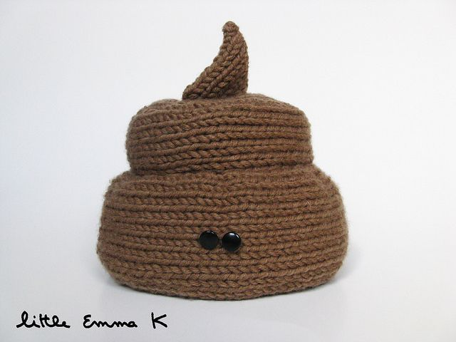 """""""Mr. Poo"""" toilet paper cover. This is why I knit."""