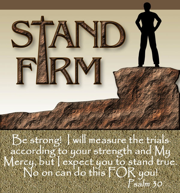 Stand Firm / Psalm 30Solid Rocks, God Armours, Christian Poetry, Faith, Scriptures Vers, Biblical Art, Inspiration Quotes, Stands Firm, Bible Verse