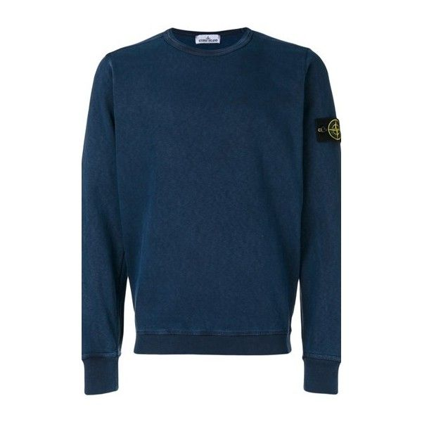 STONE ISLAND Crew Neck Jumper (€155) ❤ liked on Polyvore featuring men's fashion, men's clothing, men's sweaters, grey, mens grey crew neck sweater, mens crew neck sweaters, mens grey sweater, men's crewneck sweaters and mens gray sweater