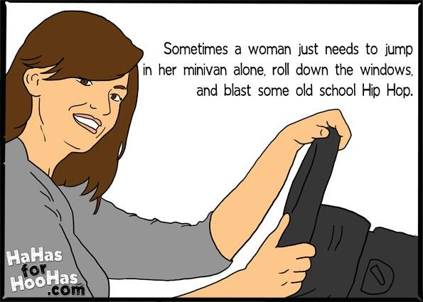 GUILTY: Old Schools, Minis Vans, Schools Hip, Funny Women, Minivan Alone, Funny Stuff, Hip Hop, Old Friends Funny, Funny Ecards