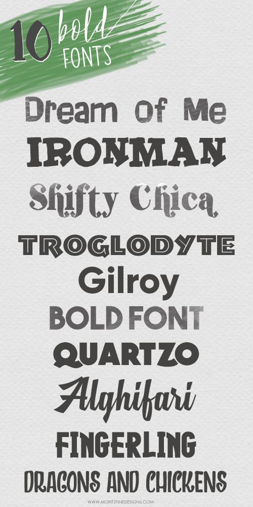 Attention font lovers, this is an amazing list of the 10 Best Free Bold Fonts. Don't miss out on these wonderful bold fonts. Easy to download and add to your font library!
