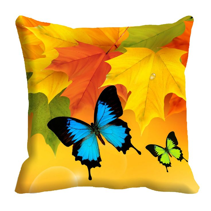 Butterfly 3D Cushion Cover (16x16) #cushions #cushioncovers #pinit #pinterset #shazliving #interior #homedecor Shop at: https://www.shazliving.com/