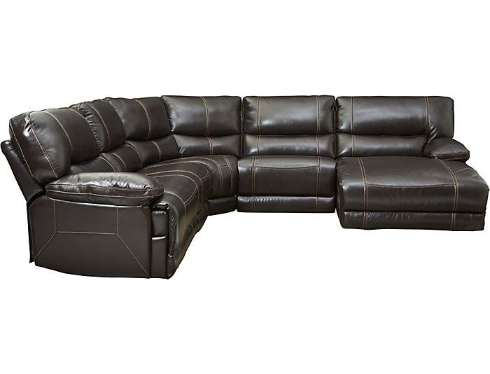 Lewen Leather Power Reclining Sectional Reclining Sectional