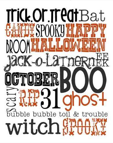 Halloween Subway Printable will brighten your office and entertain customers