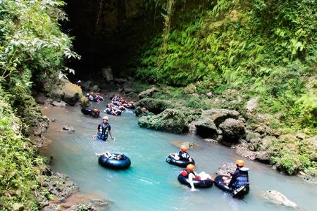 kalisuci cave tubing on yogyakarta
