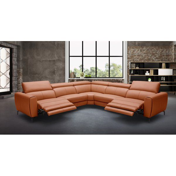 Paulson Leather 120 Symmetrical Reclining Sectional Reclining Sectional Leather Reclining Sectional Italian Leather Sectional Sofa
