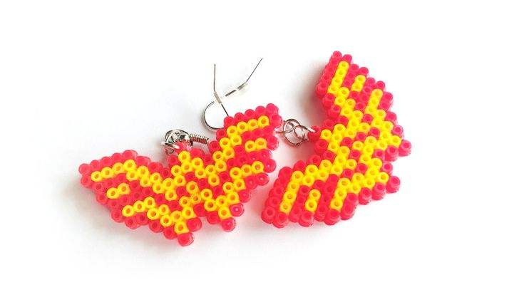 Wonder Woman Earrings Comic Book Earrings Hook or by 8BitEarrings