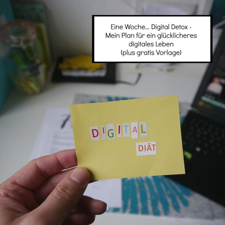 Digital Diät mit einem Plan und eriner gratis Vorlage zum Download geht es eine Woche lang in den Digitalen Detox