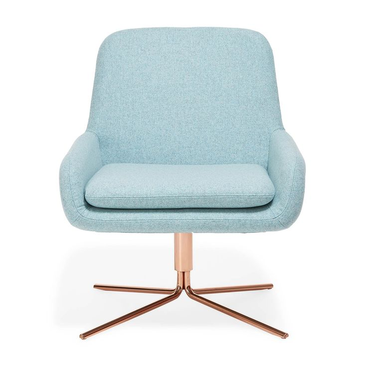 Drawing inspiration from mid-century modern styles, architects Busk + Hertzog designed this square shaped, molded seat set on a geometric, swivel base. Clad in a sky blue removable new wool slipcover, softly rounded armrests and back are designed to draw in the body, while a sleek chrome base imparts sophistication.<br><br>Displaying the quintessential qualities of Scandinavian furniture design - Softline is clean, classic, and minimalistic. Available in yellow, pink, eggplant, fuchsia and…