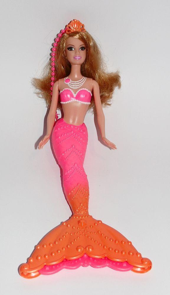 Barbie Meerjungfrau mit Krone Pink Orange Fairytopia Mermaidia Puppe Mattel Nixe in Spielzeug, Puppen & Zubehör, Mode-, Spielpuppen & Zubehör   eBay!