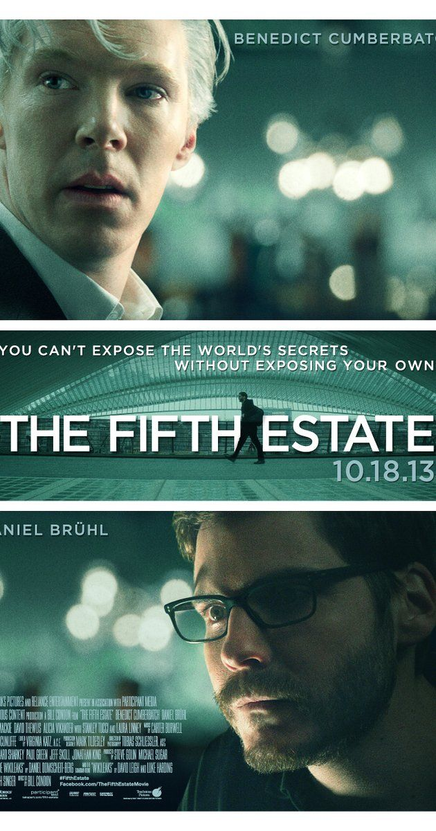Directed by Bill Condon.  With Benedict Cumberbatch, Daniel Brühl, Carice van Houten, Alicia Vikander. A dramatic thriller based on real events that reveals the quest to expose the deceptions and corruptions of power that turned an Internet upstart into the 21st century's most fiercely debated organization.