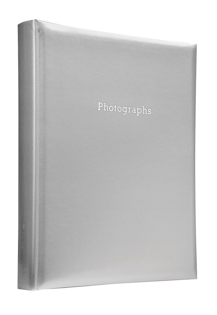 Deluxe Large Silver Self Adhesive Photo Album Hold Various Sized Photos 50 Pages