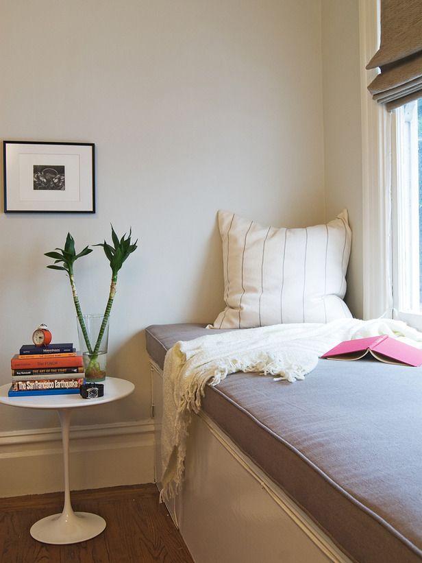 Transitional Bedrooms from Tobi Fairley : Designers' Portfolio 5700 : Home & Garden Television#/id-5700/room-bedrooms/style-transitional#/id-5700/room-bedrooms/style-transitional#/id-763/room-bedrooms/style-mediterranean#/id-5673/room-bedrooms/style-modern#/id-4222/room-bedrooms/style-modern: Window Ideas, Jennifer Jones, Reading Nooks, Master Bedrooms, Eclectic Bedrooms, Window Seats, Good Books, Modern Bedrooms, Beautiful Bedrooms