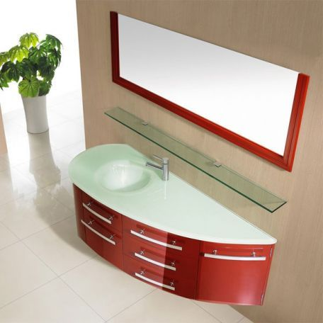SDG946RC Meuble salle de bain  coloris rouge cerise