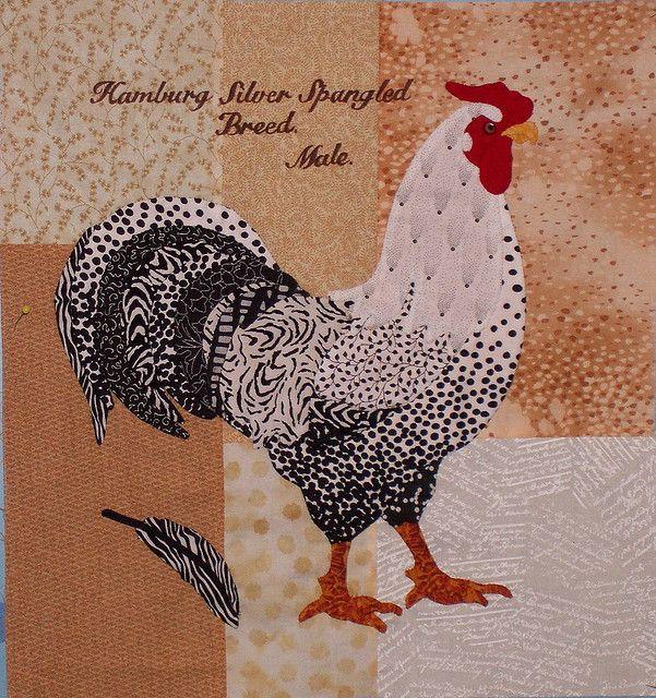 rooster quilt block