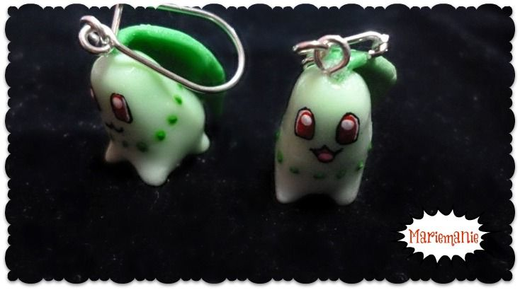 Chikorita earrings