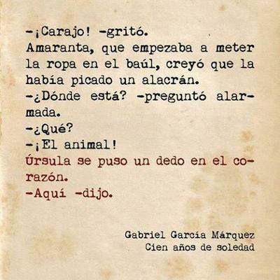 García Márquez. Cien años de soledad.