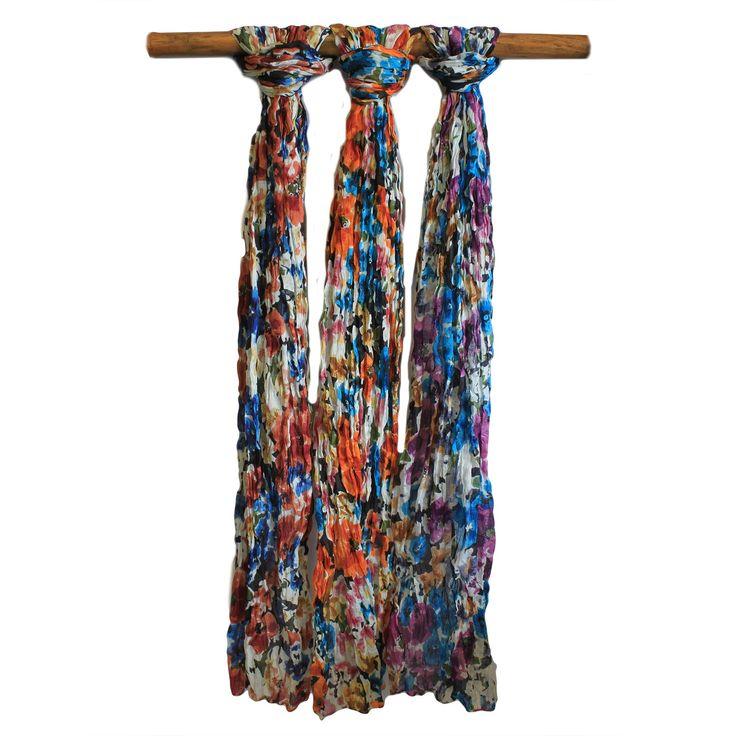 Floral Prints Scarves - HipAngels.com - Wholesale Cotton Scarves  #Scarves_Supplier  #Best_European_Scarves_Wholesaler #Soft_scarves