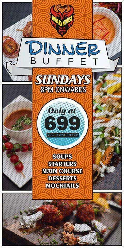 Feast on to lavish buffet dinner with friends and family this evening... #buffetdinner #caffemadhouse