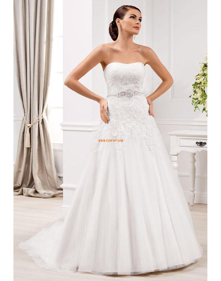 A-line Col en cœur Tulle Robes de mariée 2014