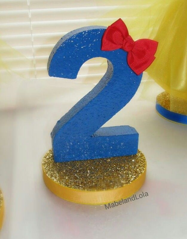 $8.50 ebay Snow White Theme Birthday Party Centerpiece Table Number Decoration ANY AGE
