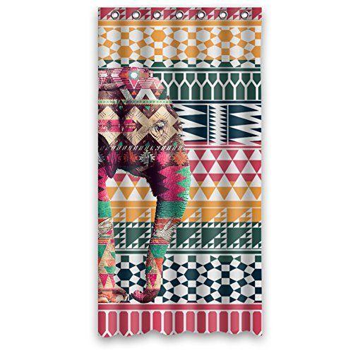 Brauch Oole Aztec Tribal-Muster Bunten Elefanten Wasserdicht Polyester Duschvorhang 90Cm X 182Cm, http://www.amazon.de/dp/B015XK6GMC/ref=cm_sw_r_pi_awdl_cTtLwb1408T00