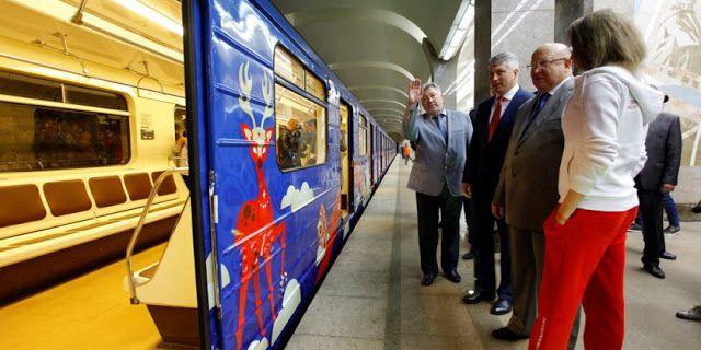 Транспортный блог Saroavto: Нижний Новгород: Поезд, брендированный символикой ...