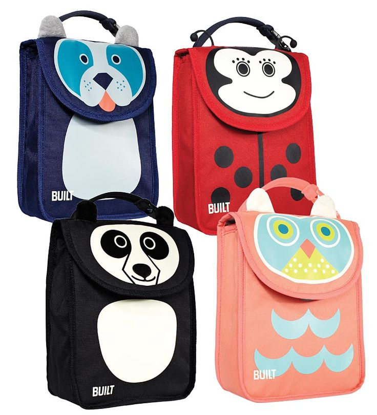 Make lunchtime fun for Back to School with Built's insulated lunch bags for kids, featuring cute animal themed characters like an owl, ladybug and panda. Made for kids ages 3 and older, each Big Apple Buddy animal friend has an adorable story line, short biography and a description of their favorite lunchtime snack!