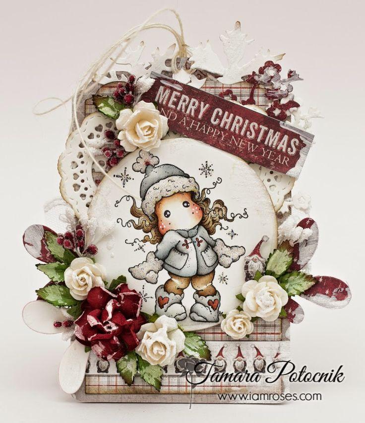 Handmade by Tamara: Christmas tag at I am roses