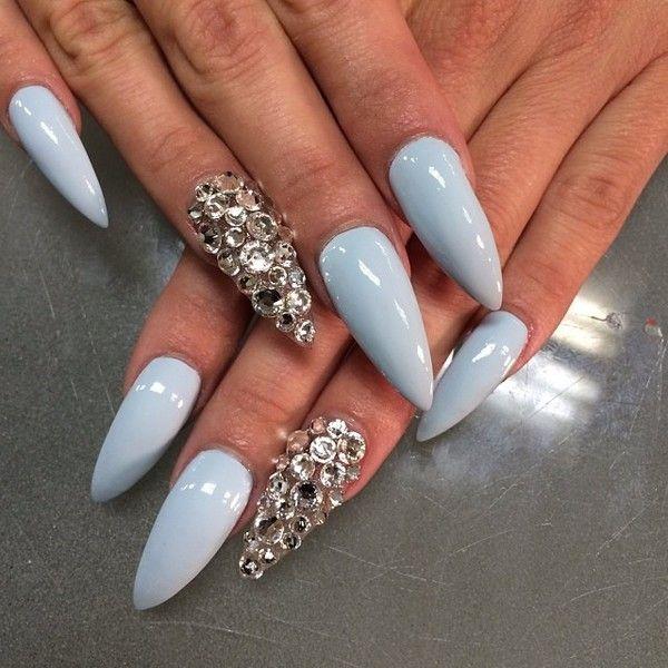 @nailsbytimia - ❄️❄️❄️ @_ms_jones_1 - EnjoyGram ❤ liked on Polyvore featuring nails