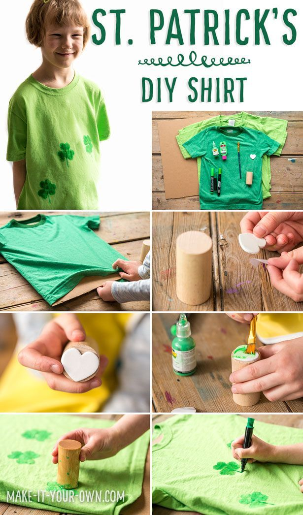 ef1a138e8 Last minute DIY St. Patrick's Day T-shirt for kids! This easy DIY is a  quick way to personalize a t-shirt or hide a stain on an existing shirt!
