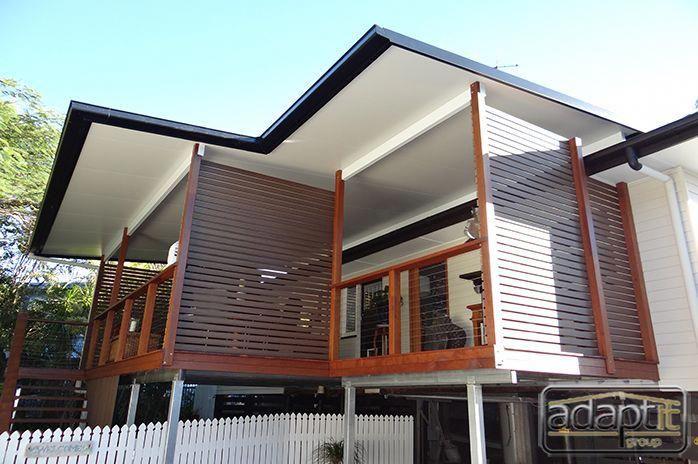 Cooldek Insulated Flyover Roof Deck Tarragindi Adaptit Group Backyarddeckideasdiy Deck With Pergola Wood Pergola Pergola Patio