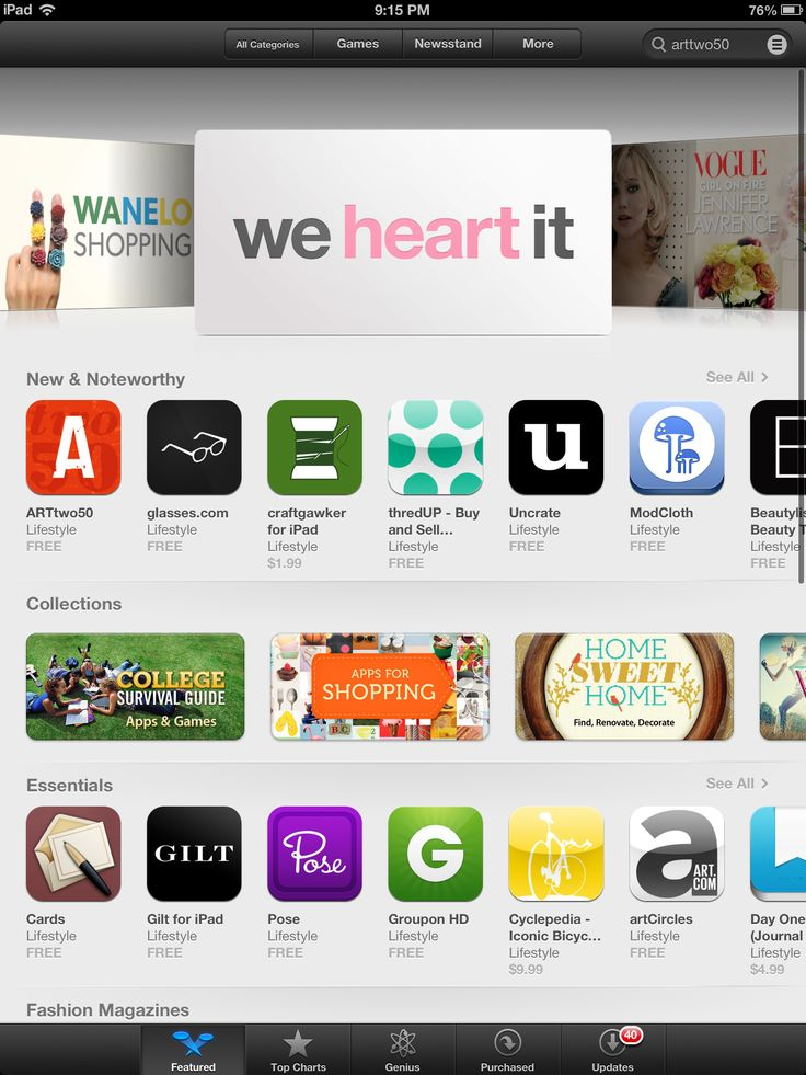 #1 new and noteworthy in the App Store's iPad lifestyle section!