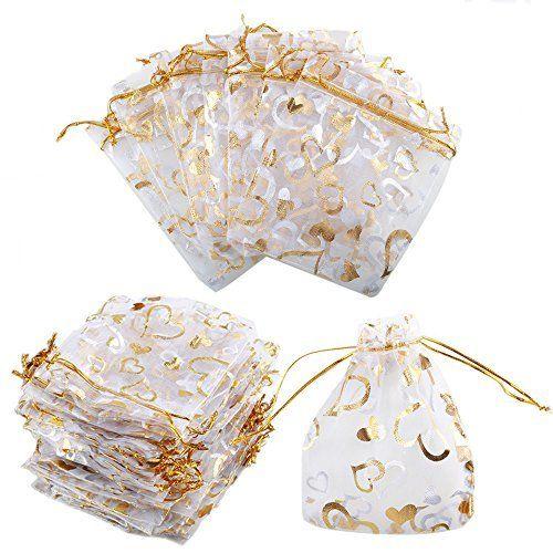 20pcs Bolsas de Yute Arpillera Natural Blanco con Margarita 9*12cm para Joyas Regalo Artículos Pequeños para Boda Fiesta Hogar (Blanco)