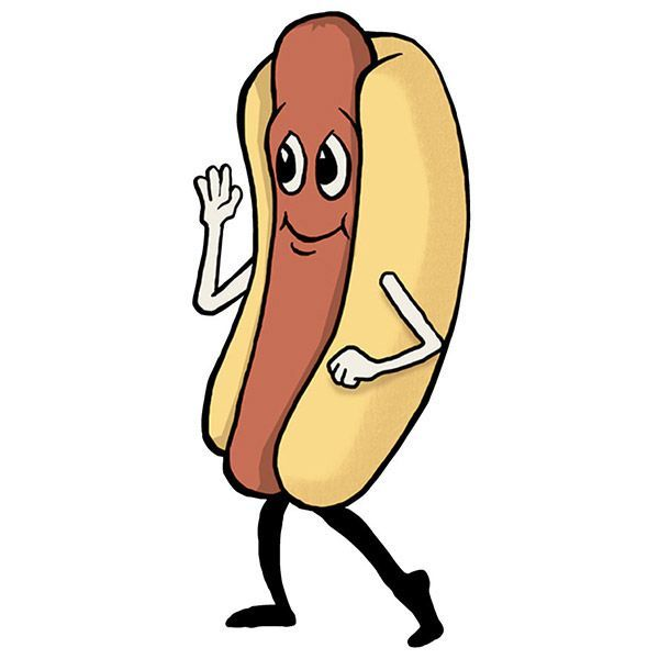 Dancing Hot Dog Clipart Free