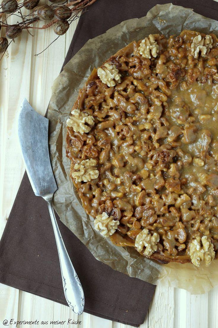 Experimente aus meiner Küche: Walnuss-Karamell-Tarte #ichbacksmir