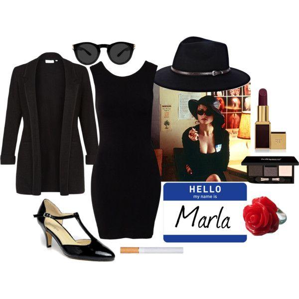 """Marla Singer costume"" by pricklythornsweetlyworn on Polyvore"