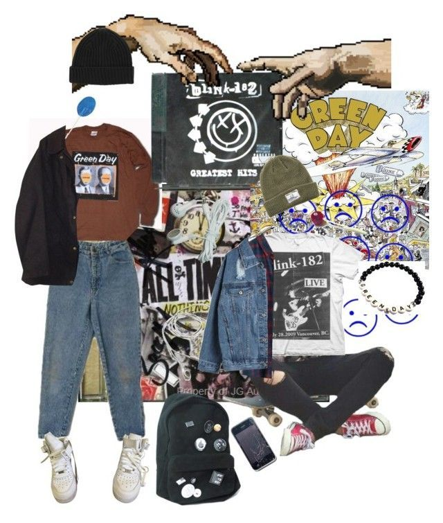 """""""Pop Punk"""" by denizburcinsinar ❤ liked on Polyvore featuring Blink, NIKE, Barbour and Dark Seas"""