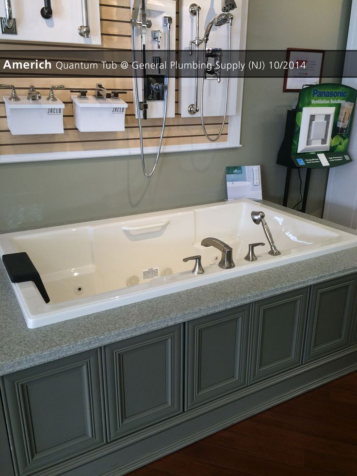 Americh Quantum Tub General Plumbing Supply Nj 10 2014 Showroom Displays Pinterest