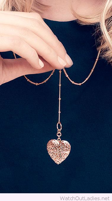Lovely filigree heart locket