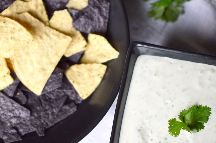 Simple garlic, lime, cilantro & jalapeno ranch dip. Serve with tortilla chips. (Copycat recipe from an AMAZING restaurant called Chuy's from Austin).