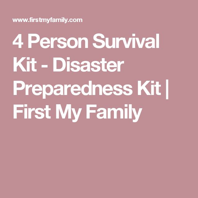 Our 4 person survival kit is the perfect all in one solution for your family's emergency preparedness needs. The survival kit is housed within two premium First My Family backpacks and contains enough