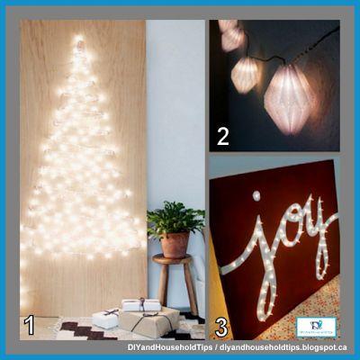 DIY And Household Tips: 3 Ways To Use Your Christmas Lights
