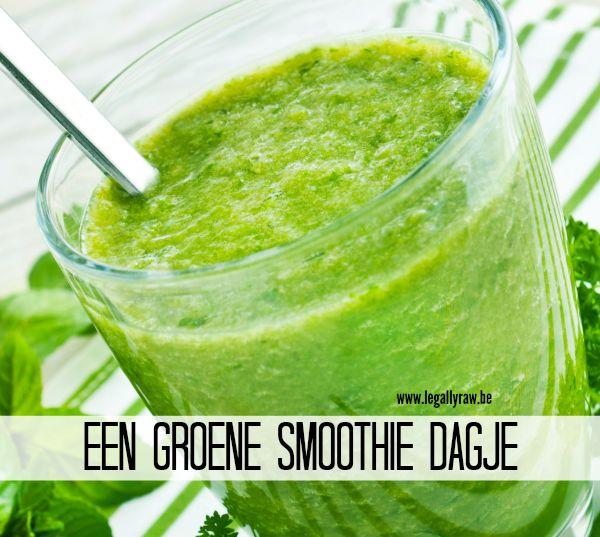 Een groene smoothie dag
