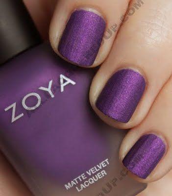 Velvet nail polish....