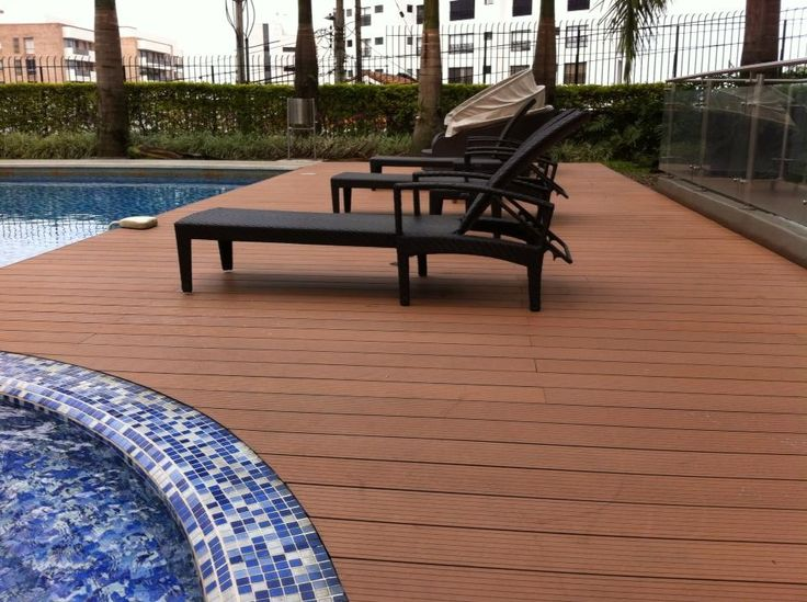 Deck en madera plastica WPC - plastic wood deck WPC made in Colombia Cali - Tecmaplast