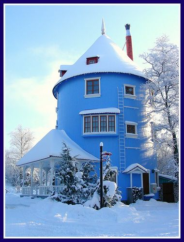 Moomins' House Finland. Perhaps this was when Moomintroll decided not to hibernate for the winter.
