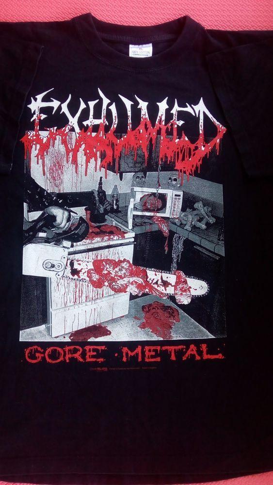 EXHUMED GORE METAL 1999 RELAPSE RECORDS by Razamataz ENGLAND t-shirt cotton  #Handmade #GraphicTee